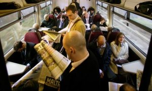 Train commuters